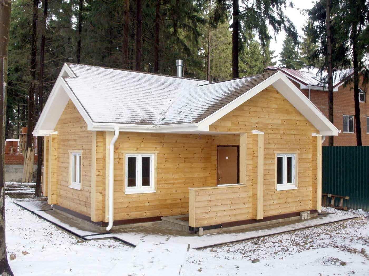 Построить дом из бруса своими руками фото
