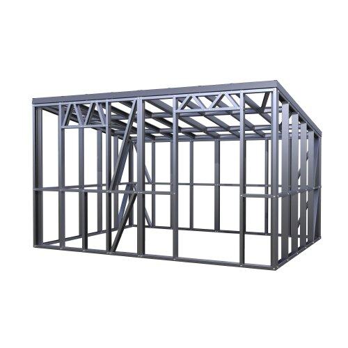 Как построить металлический хозблок своими руками
