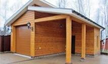 Каркасный хозблок-гараж