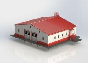 Модульное здание пожарного депо